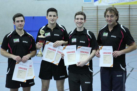 Herren S: v.l. Dennis Ludigkeit, Goran Tadic, Timm Fischer, Marco Toth