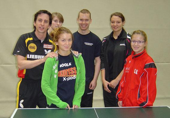 v.l. Marco Fehl, Linda Renner, Lena Vogelgesang, Andreas Kring, Jessica Bennewitz und Sarah Vogelgesang