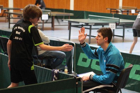 Hamonierten prima: Lars und Coach Christian