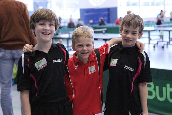 Joshua, Paul und Arnim bei ihrer ersten Regionsrangliste