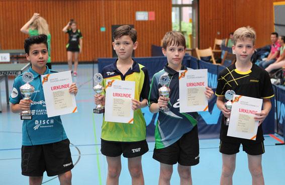 Siegerehrung Jungen U13-Einzel