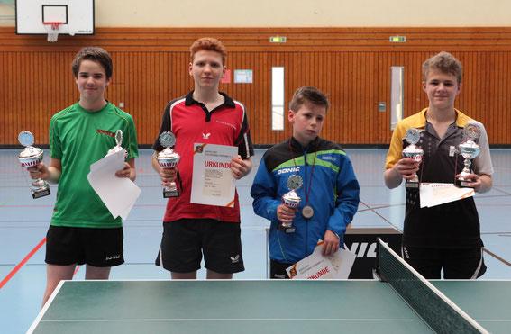 Siegerehrung Jungen U15-Einzel