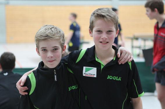 Erfolgreiche Starter bei der Bezirksrangliste: Simon Franke (U12) und Timon Dauenheimer (U13)
