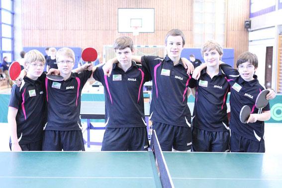 2. Platz WKII/1: PGW mit T. Jänicke, M. Bökenfeld, V. Heinzl, J. Kadel, F. Huhn, F. Jänicke
