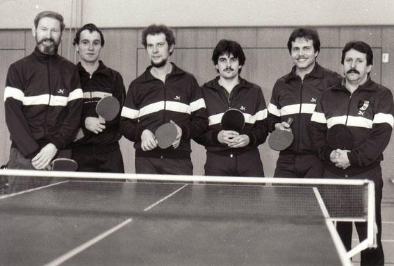 v.l. Emil Kniesner, Jürgen Mühlbauer, Jürgen Metz, Martin Seiler, Klaus Eder, Wolfgang Schmitt