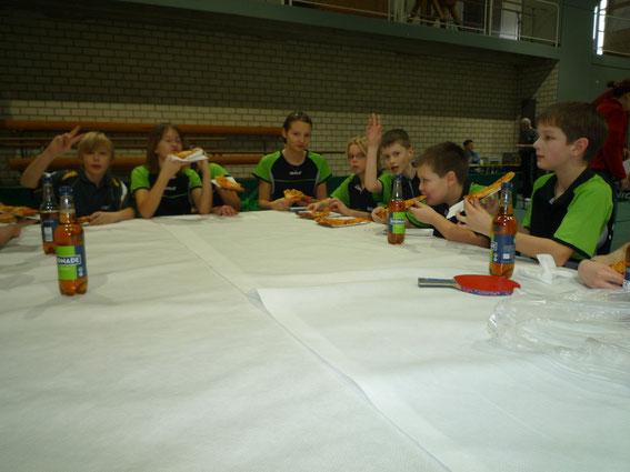 Bild aus dem Jahre 2010: Mittagspause