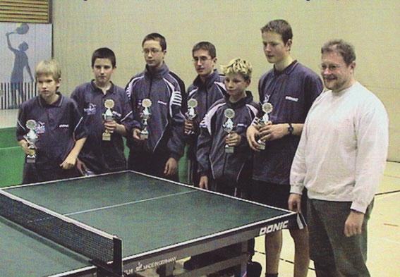 Henning Kleb, Goran Tadic, Andreas Dubil, Daniel Pflästerer, Tobias Engelblecks, Fabian Staudenmeyer