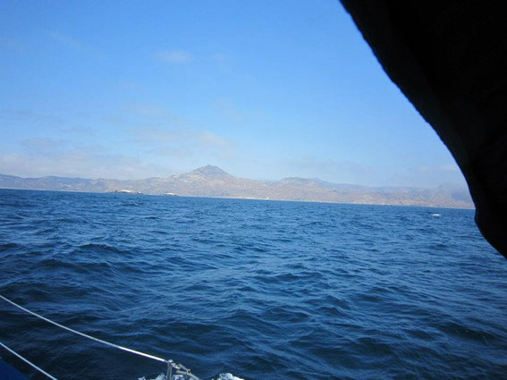 Reaching the South side of Santa Cruz Island