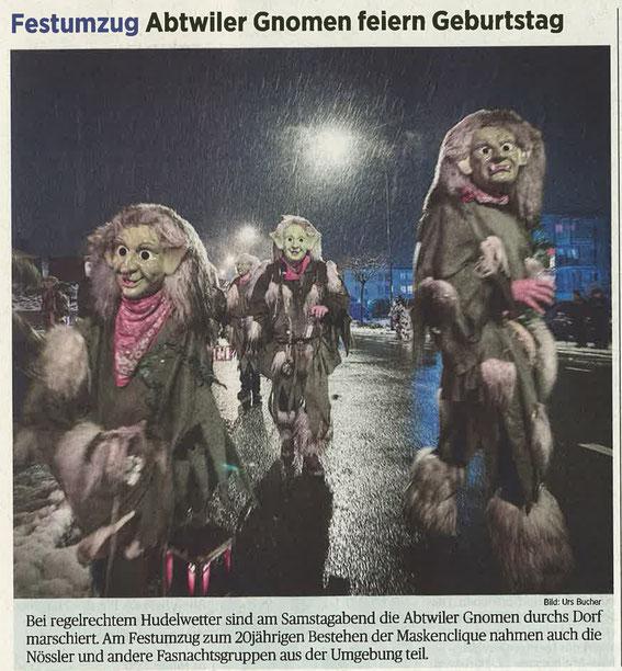 Beitrag aus St.Galler Tagblatt vom 19. Januar 2015