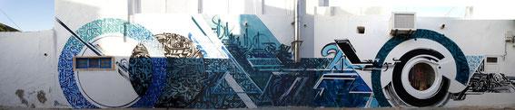 #urban calligraphy #Calligraffiti #Streetart#djerbahood#mural#graffiti