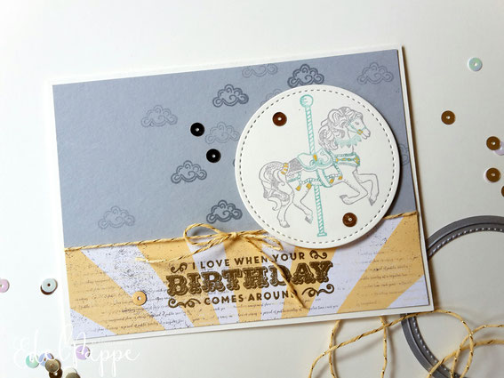 Geburtstagskarte mit dem Stempelset Birthday carousel