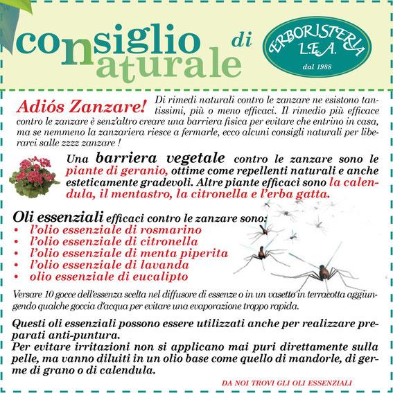 Rimedi naturali contro le zanzare erboristeria l e a - Rimedi contro le zanzare in giardino ...