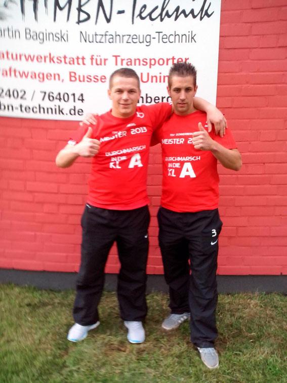 Meistertrainer D. Hoven u. T. Hansen