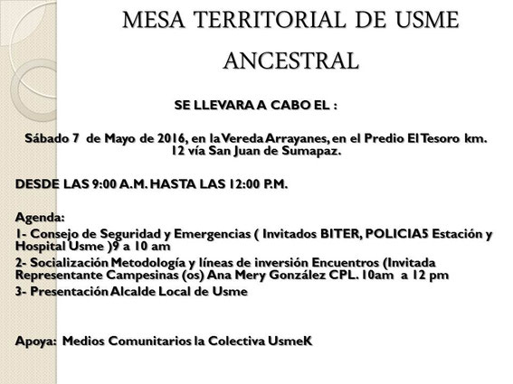 Visita la Colectiva UsmeK en :http://www.lacolectivausmek.com/index.php