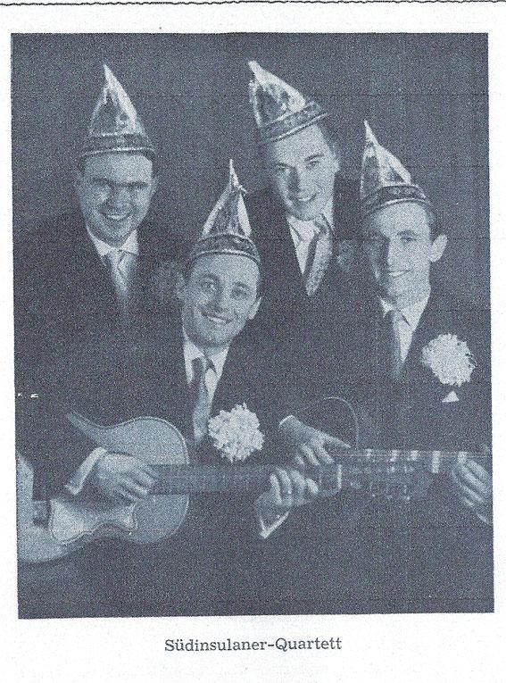 "Das Südinsulaner ""Terzett"" von links nach rechts: Franz-Josef Vois; Franz Josef Tresemer; Bernd Kremer; Richard Zimmermann"