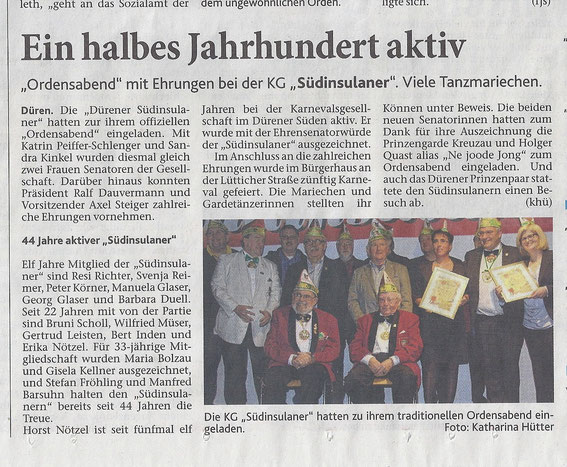 Dürener Zeitung vom 21.12.2015