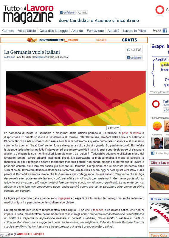 Press - Media - Italy - Online