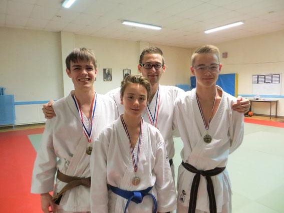 Les 4 médaillés