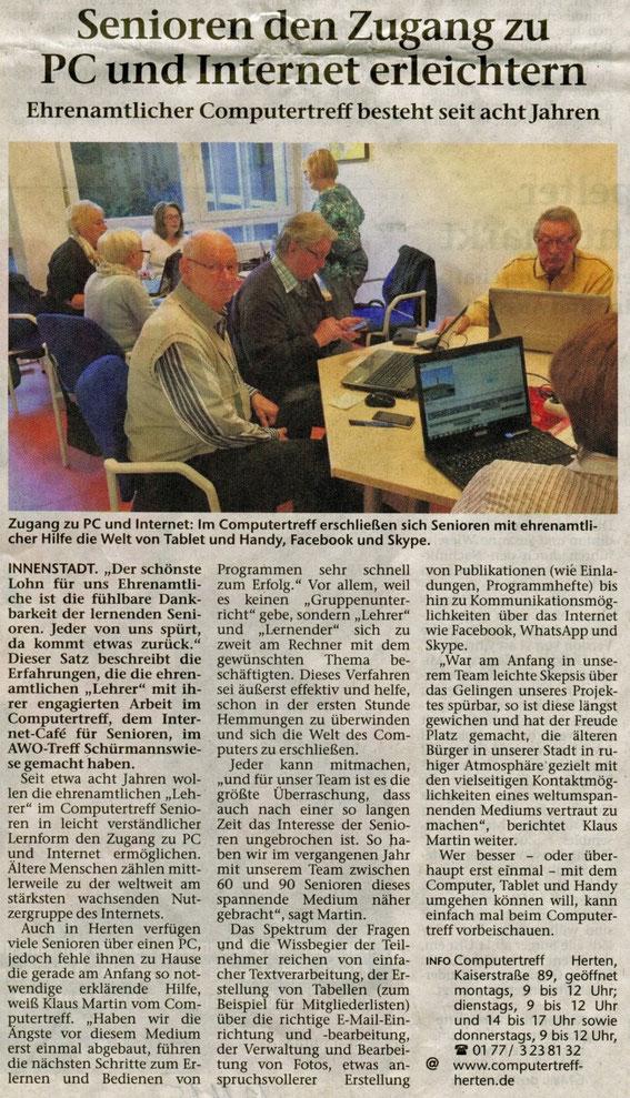 Hertener Allgemeine 12.11.2015