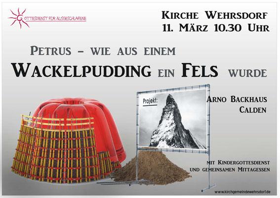 Wackelpudding und zum Vergleich Fels in der Form des Matterhorns