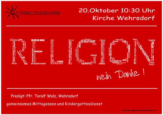 Religion - nein danke!