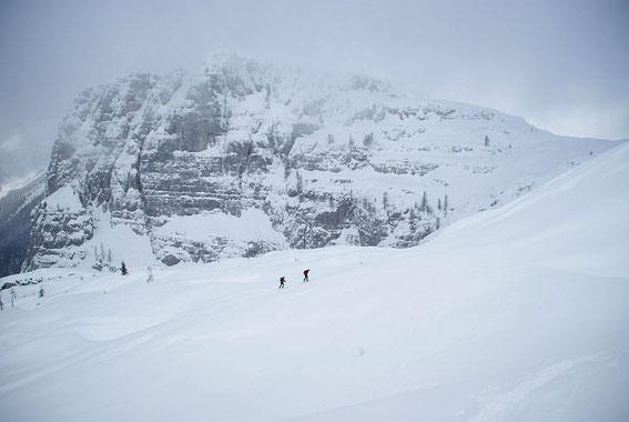 Unendliche Weiten, im Hintergrund der Monte Poviz