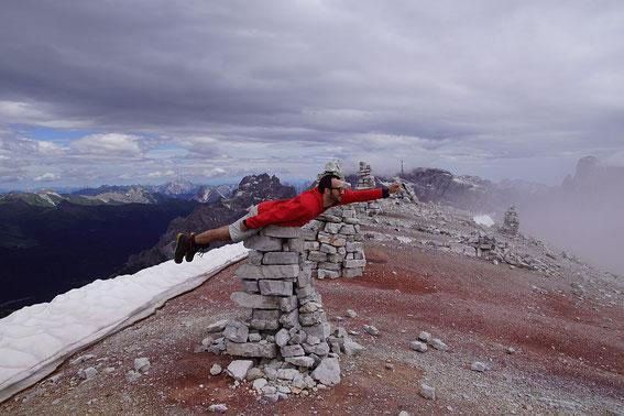 Planking am Gipfel der Schusterplatte