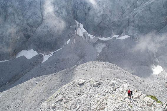 Blick vom Eiskarkopf zum Gletscher
