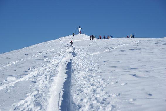 Der Gipfel ist gleich erreicht