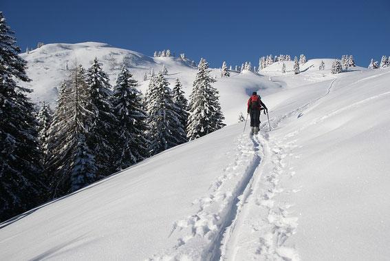 Aufstieg in herrlichem Winterambiente