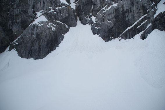 9.6.2013: Der Blick zum höchsten Punkt des Gletschers