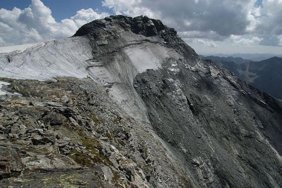 Beeindruckender Blick in die eisige Nordwestflanke des Ankogel