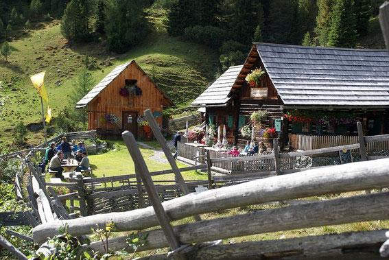 Abmarsch bei der Priesshütte