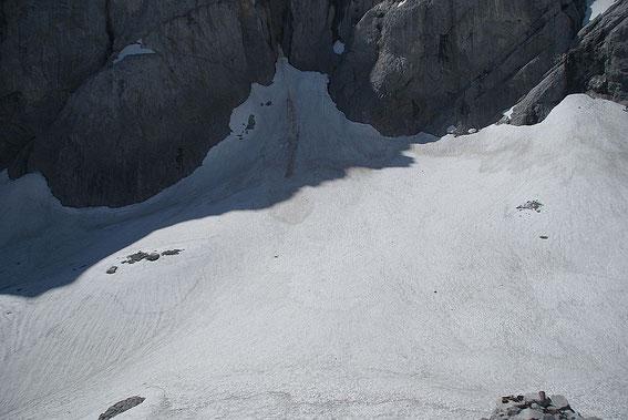 Der höchste Punkt des Gletschers