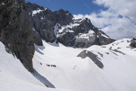 Ein Überblick, das Eiskar von Osten aus aufgenommen