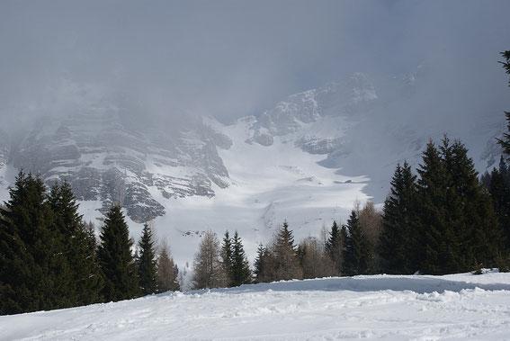Das herrliche Cregnedulkar mit der Forca del Val; 8.4.2013