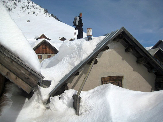 Die Schneemassen im Frühjahr 2014 sind beeindruckend!
