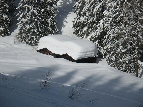 Im Jahr 2014 liegt noch mehr Schnee als im März 2006 (vgl. Bild darunter)