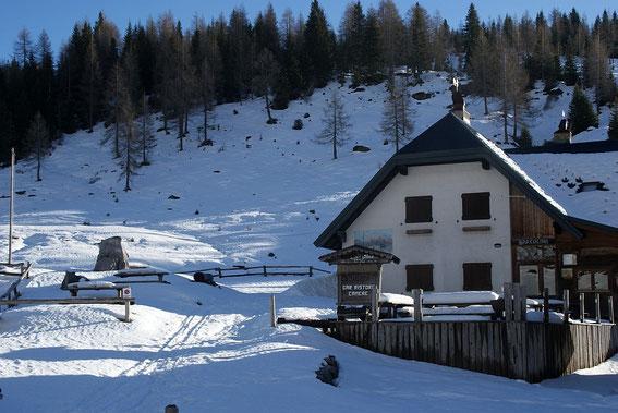 Am Lanzenpass herrscht nach kräftigen Schneefällen wieder Winter