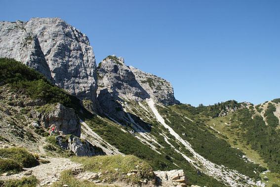 Der schöne Kessel vom Sella Ursic zur Portella