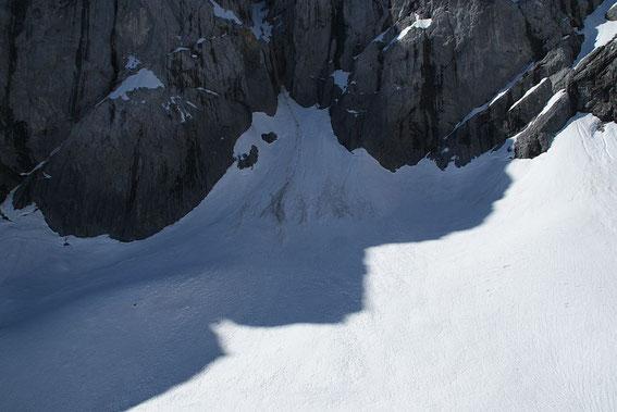Der höchste Punkt des Gletschers liegt deutlich niedriger als in den letzten Jahren