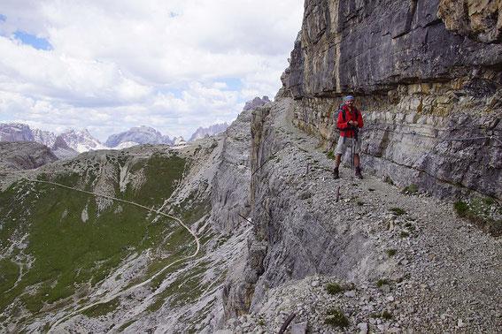 Am Alpini Steig zwischen Büllelejochhütte und Zwölferscharte