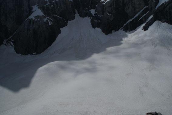 Der höchste Punkt des Eiskargletschers
