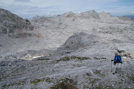 Beim Biwak, das erste zu durchquertende Kar