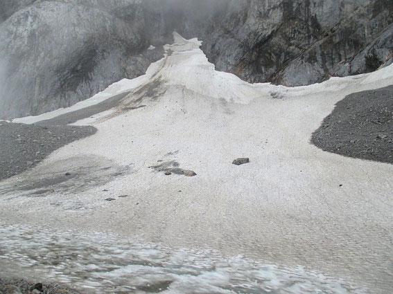 Blick zum höchsten Punkt des Gletschers