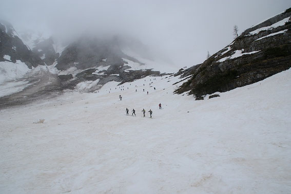 Aufschwung nach der ersten Steilstufe