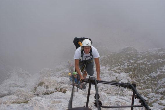 Abstieg über den Leiterweg (Scala Pipan)