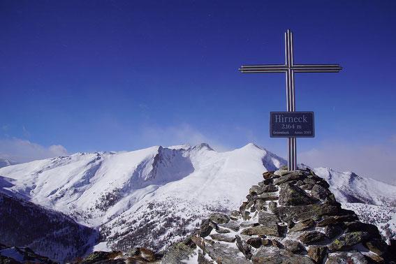 Vom Gipfel der Blick nach Westen zur Sternspitze (15.1.2019)