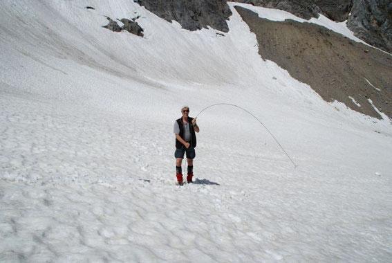Schneedickensondierung