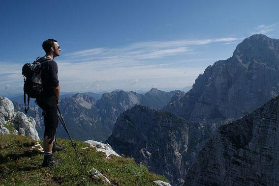 Herrliche Motive ergeben sich, hier im Hintergrund die Montasch-Westwand